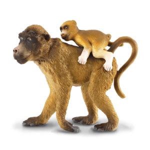 Μπαμπουίνος θηλυκός με μωρό